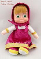 Russian Language Voice Control Masha Doll Cartoon Martha Marsha Musical Dolls Learning & Education Baby toys for Children Girls