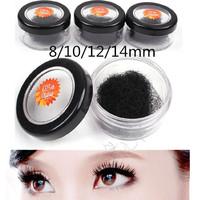 4pcs/lot  8mm/10mm/12mm/14mm  Individual Black Grafting False Eyelash Planting  Eye Lashes Extension Lash set