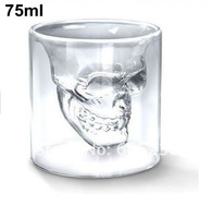 4pcs/lot Doomed Crystal Skull Shot Glass with Gift Box (2.5 ounces) 75ml