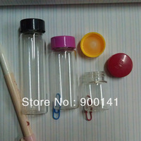 Wide mouth glass vials glass bottles 27X 72 mm, 30ml,  Neck Finish 24-400 comes with polypropylene foam liner caps, 72pcs