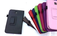 Folio PU Leather Skin Stand Case Cover for Samsung Galaxy Tab 3 7.0 P3200 free shipping 100pcs/lot