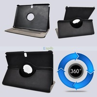 360 Degree Rotating Stand Magnetic PU Leather Smart Cover case for  Samsung Note 10.1 2014