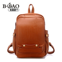 Hot selling brief preppy style vintage backpack fashion backpack female bags brown  new new