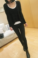2013 new winter fashion women's round neck sweater large influx of super-elastic soft wild sweater free shipping