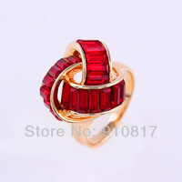 New Wholesale  Fashion Jewellry  Finger Rings Party Aolly With Crystal Ring For Women Rings  C0229