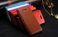High Qualtiy with stand Genuine Leather Cover Case For iphone 5C Free Shipping A0251