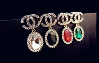 South Korea han edition style full drill color crystal earrings sell like hot cakes