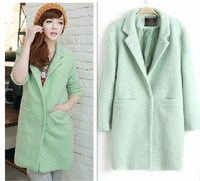 2014 Spring women's woolen overcoat ,South Korea fashion medium-long  trench coat,spring jacket outwear coat for women