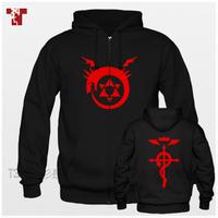 American TV  Fullmetal Alchemist The alchemist of steel More men's fleece collar fleece jacket Sport coats Autumn/winter
