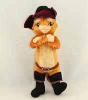 40CM Puss in Boots Fruit Cats Stuffed & Plush Animals Toys for Children Soft Vivid Plush Cats Animals