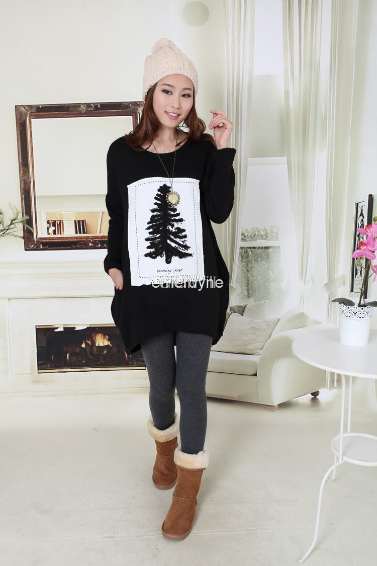 New 2014 1030# really making big yards pregnant women pour warm cashmere sweater pregnant women blouses plus velvet winter(China (Mainland))