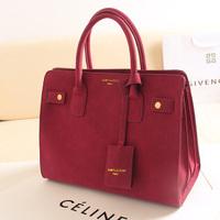 Female bags women's handbag high quality brief ol nubuck leather handbag one shoulder gold women's handbag