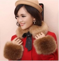 Hot Selling Winter Women's Faux Fur Choker Sunday Angora Yarns Fur Cap Fashion Fur Collar For Women Christmas Gift LXQ