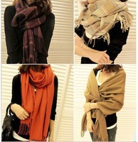 2013 korean classic style plaid scarves lady scarves autumn and winter warm scarf cashmere scarf free shipping LXQ