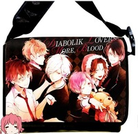 Free Shipping 2013 NEW  Style DIABOLIK LOVERS  Anime surrounding canvas shoulder bag  Inclined shoulder bag chool bag