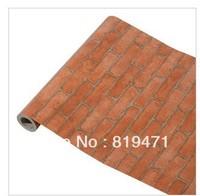 2013 -2014 New Pvc wallpaperbrick balcony tv cups wall paper  90cm(34.5inch)width*500cm(200inch)longth OR 45cm(18inch)*394inch