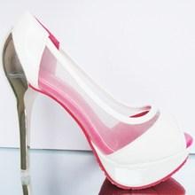 cheap white wedding sandals