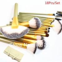 Professional 18pcs Brushes Make Up Set Superfine Hair Anti Allergic Makeup Kit Free Shipping