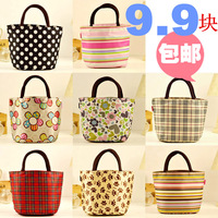 3 waterproof canvas bag mobile packet lunch bag portable small bag lunch bags oxford fabric mommas women's handbag