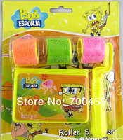 10PCS SpongeBob SquarePants infants early childhood educational children's cartoon stationery / wheel / seal / stamp