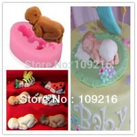 Free shipping !!1pcs New Style Lovely Baby Silicone Handmade Fondant/Cake Decorating DIY Mold