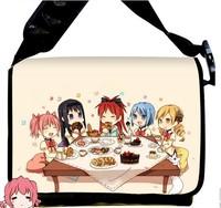 2013 NEW Style Puella Magi Madoka Magica Kaname Madoka  Anime surrounding canvas shoulder bag  Inclined shoulder bag chool bag