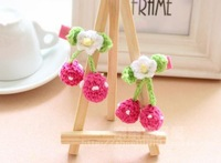 Cherry Cherries hair flower clip BB hair clip  Grip slide fascinator two colors