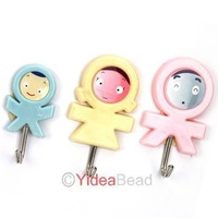 Min Order $6 (mixed order) Creative Living 3pcs Strong adhesive hook Self-Adhesive Sticky Stick Tile Hanger Holder Robe Hooks