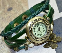 2013 NEW Korea design fashion lady bracelet watch with butterfly accessory 5pcs/lot free shipping