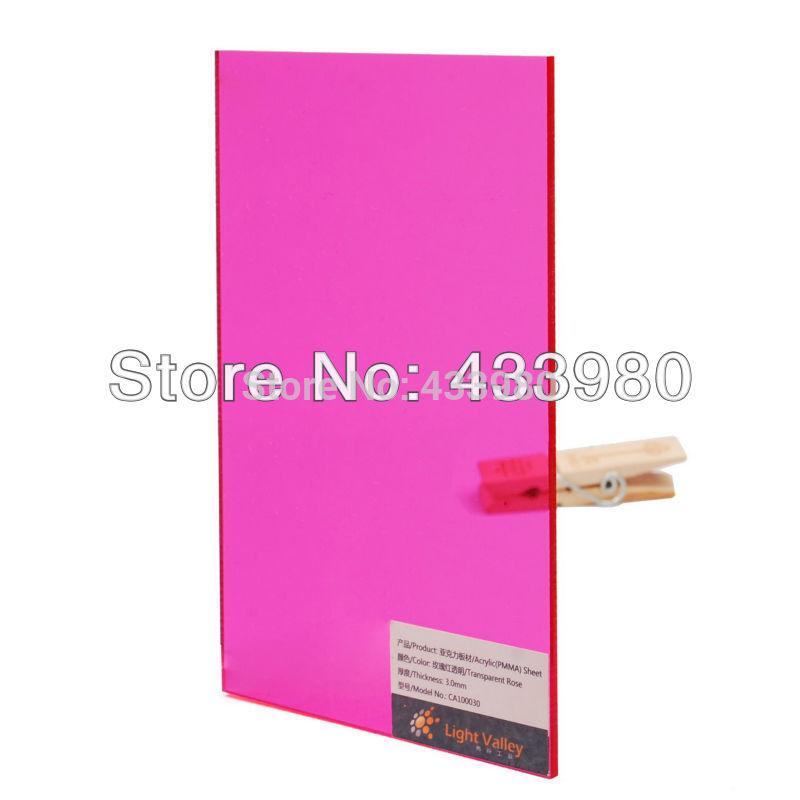 Пластмасса 600mm x 300mm x 3mm Acrylic Plexiglass Sheets - Tinted Colors - Rose