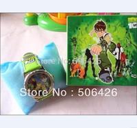 2pcs/lot Ben 10  Watch With Boxes Cheap Kids Cartoon Watches Ben ten Watch gift box  free shipping