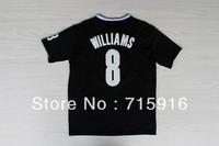 13/14 Season Christmas Edition #8 WILLIAMS embroidered black jersey