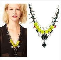 Chocker necklace fresh green  crystal  rhinestone  necklace for women