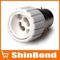 B22 to GU10 LED Bulbs Socket Adapter(AC85-265),10PCS/LOT,Free shipping