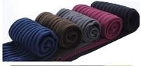 Autumn and winter to keep warm fleece vertical stripes twist trample feet leggings