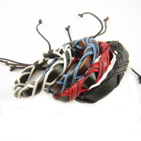 2014 New Arrival Wrap Leather Black and Brown Braided Rope Bracelet for Men and Women Charms Fashion Man Jewelry A2637 Trinket