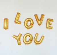 "Free Shipping! 12PCS/Lot Gold 14""Optional Foil Letter A-Z Ballon Party Birthday Wedding Decoration Supplies"