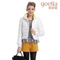 Goelia 2013 single breasted slim fashion female short down coat 2ce8b440