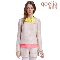 Goelia 2013 winter chiffon colorant match plaid top shorts set 13ce3e380