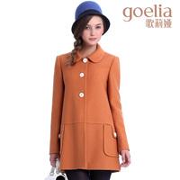 Goelia 2013 winter new arrival women overcoat woolen medium-long outerwear 13ck6ec9a