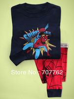 Baby Boy/Girl Cartoon Spider-man sleepwear Kids Children cute pajamas/pyjamas 6sets/lot ( 6 sizes)