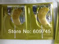 Free Shipping Women Men Crystal Collagen Gold Powder Eye Mask Anti-Puffiness Dark Circle Anti-Aging 20pieces(10pairs) wholesaler
