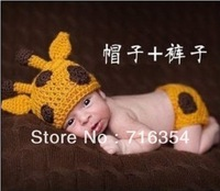 Deer Style Handmade Hat Pants Newborn baby Hat Shorts Photography Set Props