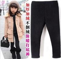 fashion Kids Girls Thick Winter Leggings Warm Velvet balck Child's Leggings Free Shipping