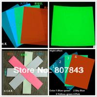 4PCS sizeA4 Premium Luminous GLOW IN THE DARK Tape Sheet Sticker luminous film 4 color