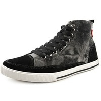 Cattle personality the trend of fashion casual shoes high skateboarding shoes canvas shoes