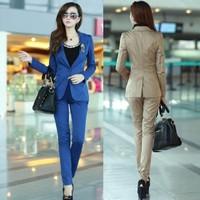 2013 autumn slim small suit jacket women trousers pants set casual twinset