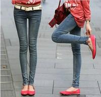 new fashion 2014 summer autumn cotton plus size casual skinny jeans women long denim pants