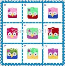 Crochet padrão Mão bonito Crochet OWL bolsa da bolsa Boutique Projeto Handmade pequena da criança da coruja Bolsa 20pcs BG001(China (Mainland))