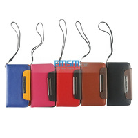 New Arrival Lichee Leather Cover Case with Sling for Samsung Galaxy  I9105 I9100